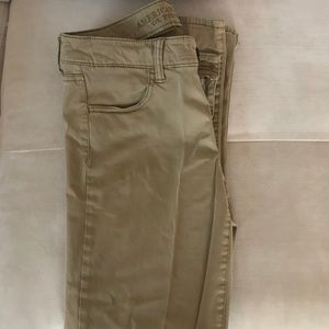 Khaki Jeggings from American Eagle